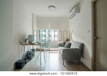 Living Room With Working Space