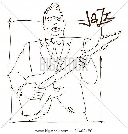 Retro  jazz music concept