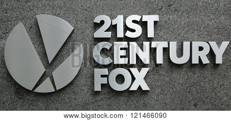 21st Century Fox logo in New York.