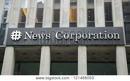 News Corporation headquarters building  in New York City.