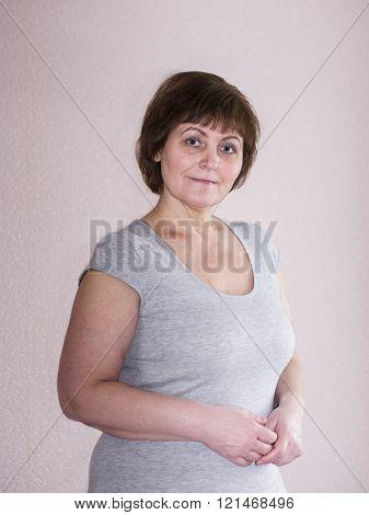 image of beautiful mature woman
