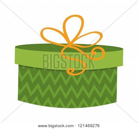 Gft holiday box for birthday with ribbon cartoon vector icon