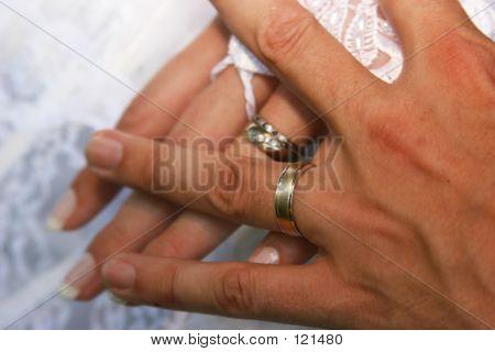 Trauringe von Braut und Bräutigam