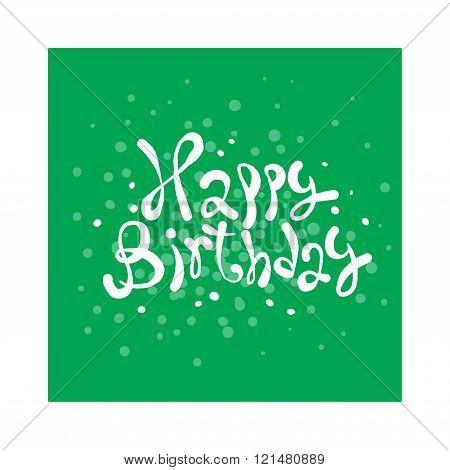 Happy Birthday Card illustration.