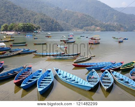 Boats On Lake Fewa