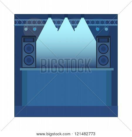 Music scene background illustration.