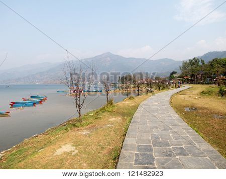 Pathway Beside Lake