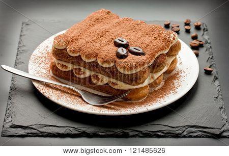 Homemade Tiramisu Cake Traditional Italian Dessert