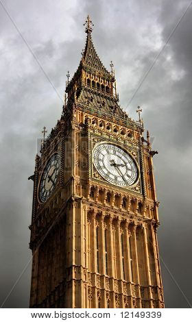 A telephoto of Big Ben, London