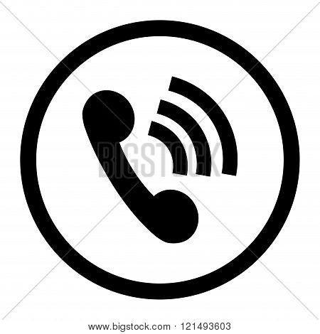 Phone Icon Connection Black