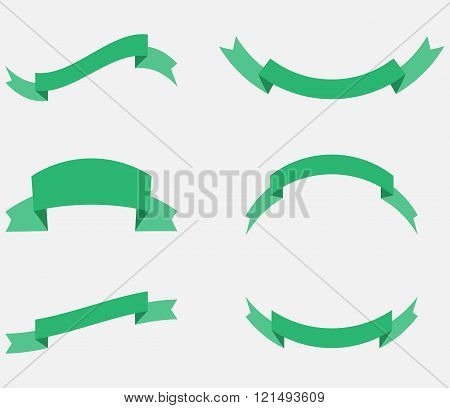Ribbon Decoration Green Color