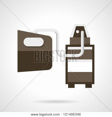 Vehicle emissions analysis flat design vector icon
