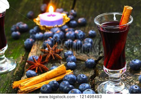 Blueberry Mulled Wine