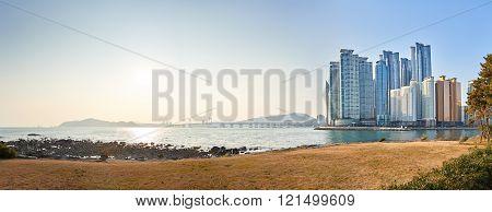 Landscape Of Marine City And Gwangan Bridge