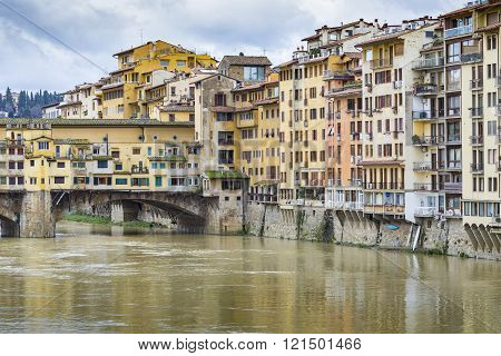 Florence, Italy - 07 March, 2016: Ponte Vecchio, Florence, Italy