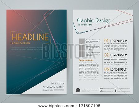 Vector Magazine,Flyers Brochure,cover,annual Report,design Templates With Abstract Line background