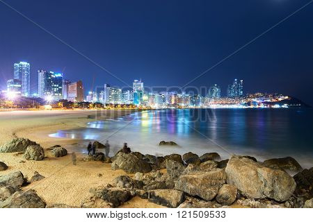 Haeundae beach in night