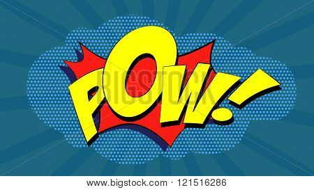 Pow! - Comic book explosion
