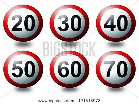 3D Speed Limit Signs