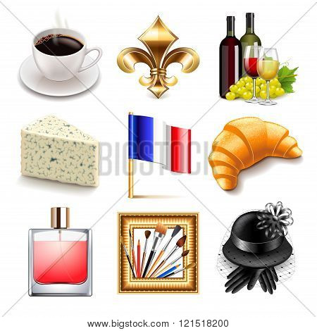 France Icons Vector Set
