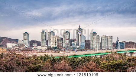 Daejeon city skyline view, South Korea