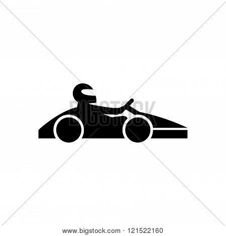 Kart with driver icon