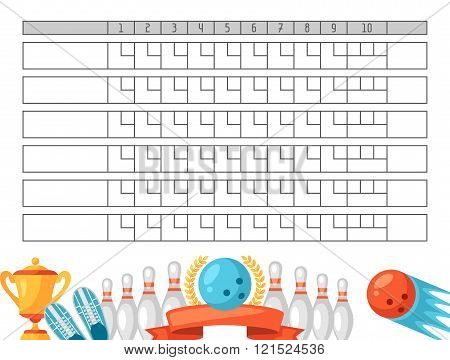 Bowling Score Sheet Blank Vector  Photo  Bigstock