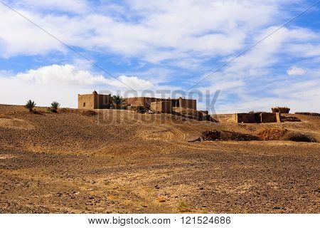 Berber house in the desert