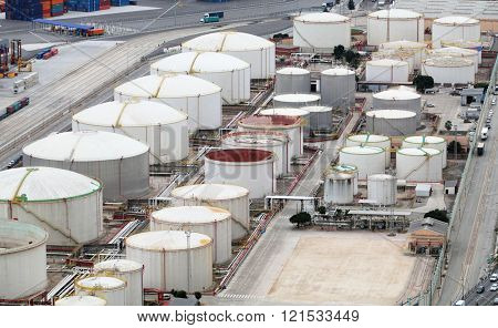 Oil And Gad Storage Tank In Refinery