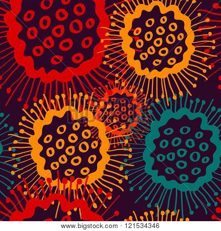 circle seamless pattern endless vector textile