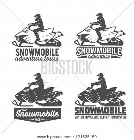 set of snowmobile dadges