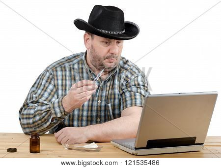 Cowboy Learns How To Give An Intramuscular Injection