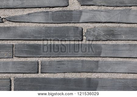Close up of a brick wall in Paris