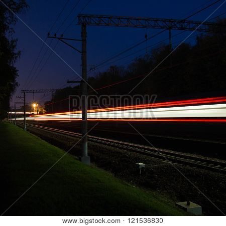 Railroad  In The Evening