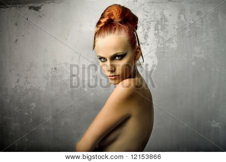 portrait of beautiful woman model
