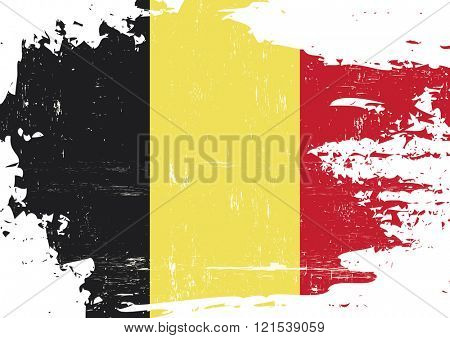 Belgian scratched Flag. An Belgian flag with a grunge texture