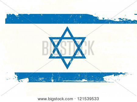 Israel scratched Flag. A israeli flag with a grunge texture