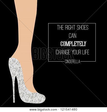 Cinderella Shoes Inspirational Card