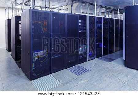 series mainframe data center server room