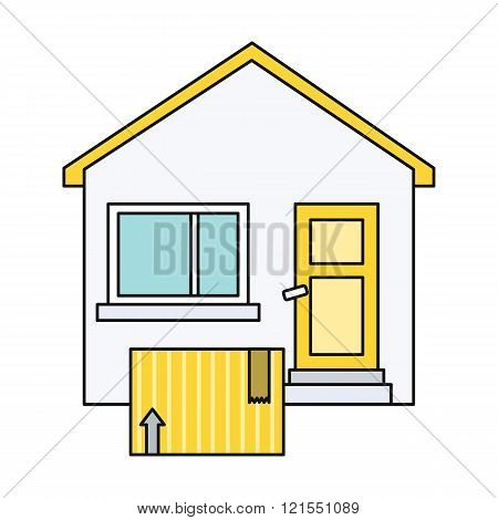 Delivery Box to Home House Design Flat