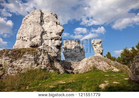 Jurassic Limestone Rocks - Polish Jura.