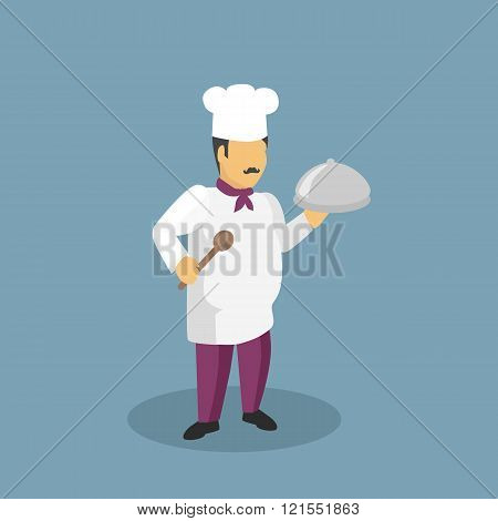 Profession Cooks Character Design Flat