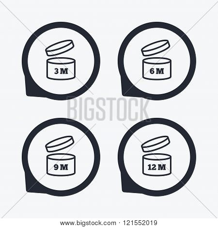 After opening use icons. Expiration date product