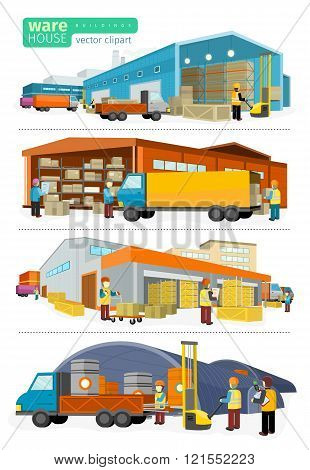 Concept Infographics Equipment Warehouse