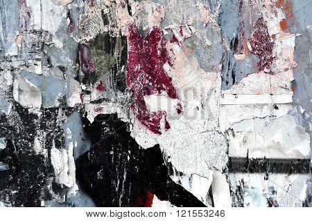 Torn Paper peeling postersTexture