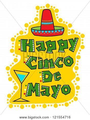 Happy Cinco De Mayo greeting card. Eps10