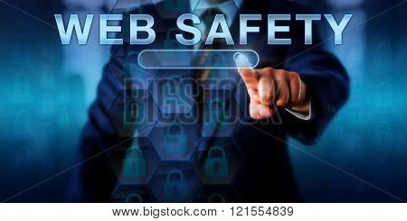 Corporate Internet User Pressing Web Safety