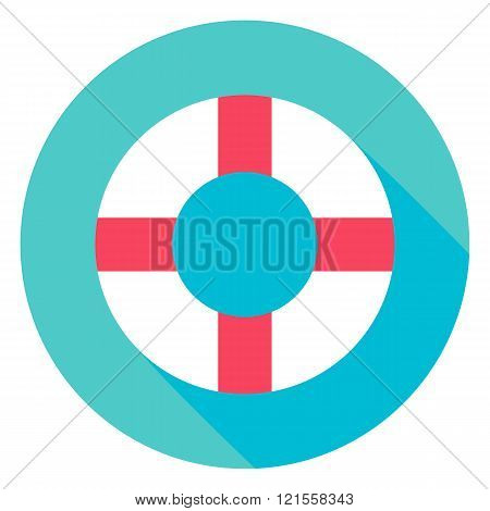Sea Lifebuoy Circle Icon