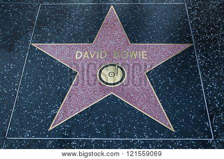 David Bowie Hollywood Star
