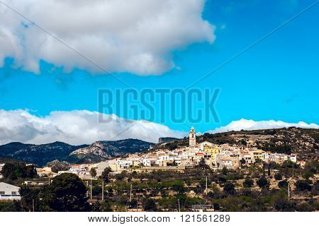 Picturesque Rossel town. Province of Castellon in the Valencian Community Spain.
